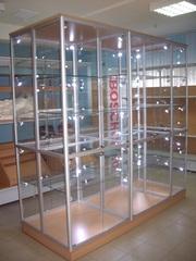 Продаются новые стекляные  торговые витрины ( любая ф/о,  доставка)