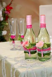 украшние торжества живыми цветами,  свадебные букеты