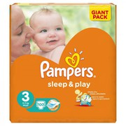 Pampers sleep&play 3 93шт.